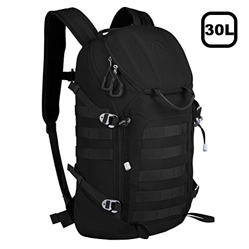 Aione Tactical Backpack Military Army Backpack Daypack 25L/30L/32L/39L Assault Pack Bug Out Bag with Hard Shell Top Pocket