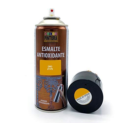 Pintura Spray Oro 400ml ANTIOXIDANTE para metal / anti oxido para metales, hierro, aluminio, acero / Para exteriores - interior aplicación sin imprimacion