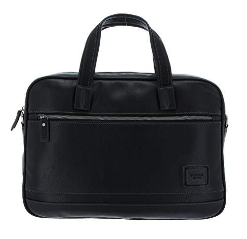 Picard, Männer Laptoptasche, in der Farbe Schwarz, mit Lederoptik, 39cm, mit Zwei Henkel, 24631U5001