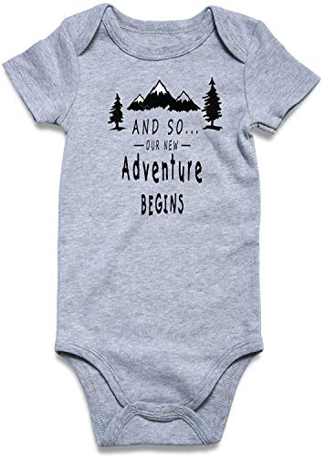1st Birthday Party Clothes for Baby Boys Girls Cute Pattern Onesie and SO Our New Adventure Begins Xmas Gift Family Photoshoot Infant(12-18 Months)