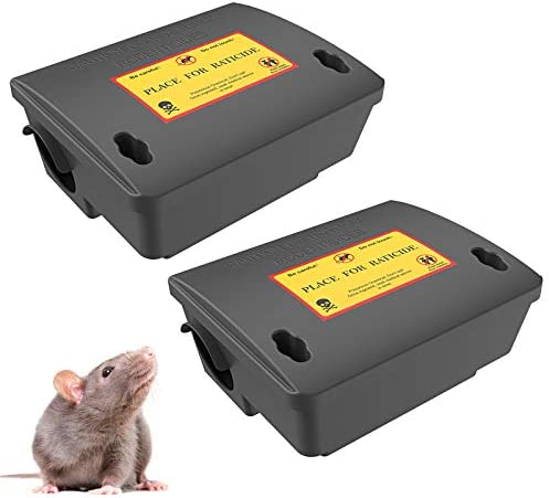 2Pack Rat Bait Station Mouse Traps Reusable Pest Box Against Mouses Squirrels for House Outdoor product image