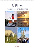 Buesum - Impressionen eines Sommers (Wandkalender 2022 DIN A2 hoch): Fotografien eines Sommers aus Buesum an der Nordsee. (Monatskalender, 14 Seiten )