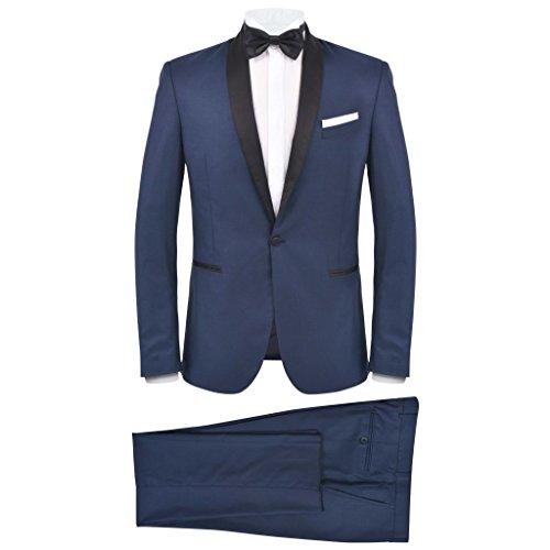 Geniet van winkelen met Tweedelig kostuum/smoking voor mannen marineblauw maat 48
