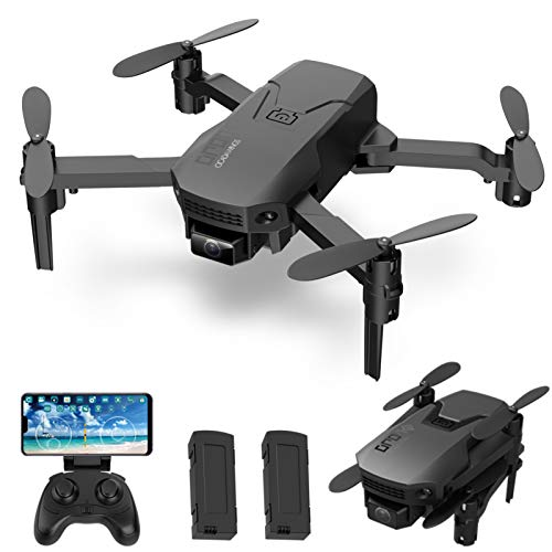 GoolRC H1 RC Drone con Cámara 4K Mini Drone Quadcopter Plegable para Niños con Función Trayectoria Vuelo Modo sin Cabeza Vuelo 3D Auto Hover One Key Despegue Aterrizaje