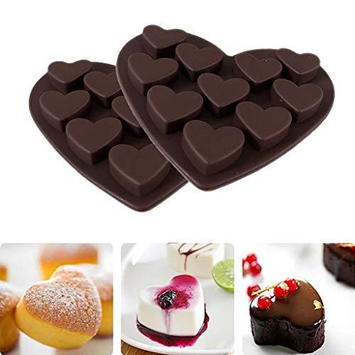 Diamond Heart Silicone Cake Chocolate Mold Silicone Baking Pan Mold For Chocolate, Cake, Jelly, Pudding, Handmade Soap, Cupcake Baking Pan 2 Pcs