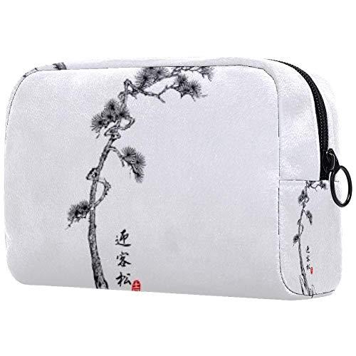 Bolsa de maquillaje personalizada para brochas de maquillaje, bolsas de aseo portátiles para mujeres, bolso cosmético, organizador de viaje, canción de bienvenida