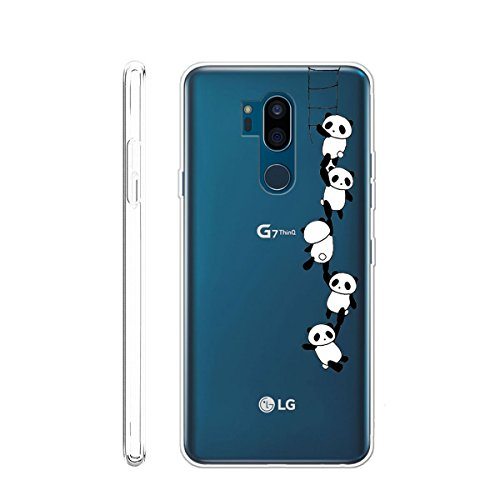 LJSM Funda LG G7 ThinQ Transparente Carcasa Flexible
