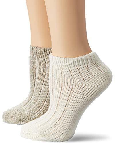 s.Oliver Socks Damen Füßlinge S24161, Weiß (Offwhite 1201), 39/42, 2er Pack
