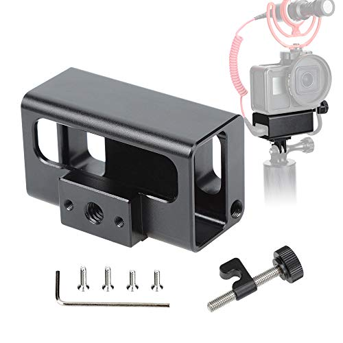 Luxebell Aluminium Alloy Skeleton Thick Solid Protective Case Shell Frame Housing for GoPro Vlogging Microphone Adapter C400 C500
