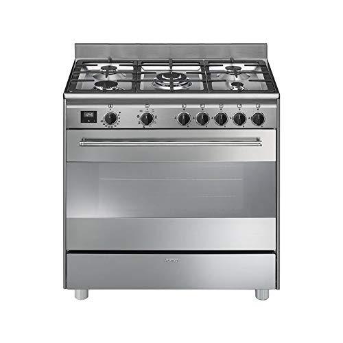 Cocina Smeg BG91X9-1 INOX 5 Fuegos Horno Gas Natural