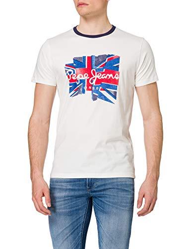 Pepe Jeans Donald Camiseta, 803off White, XS para Hombre