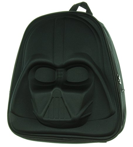 Loungefly Darth Vader Mochila de nailon moldeado 3D, Negro  (Negro) - Darth Vader 3d Molded Nylon