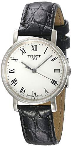 Tissot Herren Analog Quarz Everytime Medium Armbanduhr mit Leder Armband T1094101603300