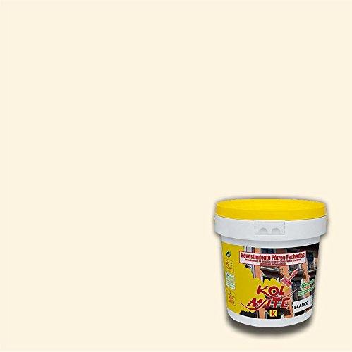 Revestimiento Pétreo de Fachadas KOLMATE. Pintura especial para fachadas (5 kg, hueso)