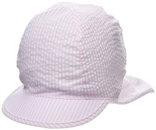 maximo Baby-Mädchen Schildmütze Mütze, Rosa (Zartrosa-Weiß 30), 45