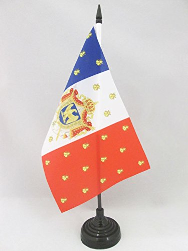 AZ FLAG Bandera de Mesa del ESTANDARTE Imperial DE NAPOLEÓN III 21x14cm - BANDERINA de DESPACHO Napoleon Bonaparte 14 x 21 cm