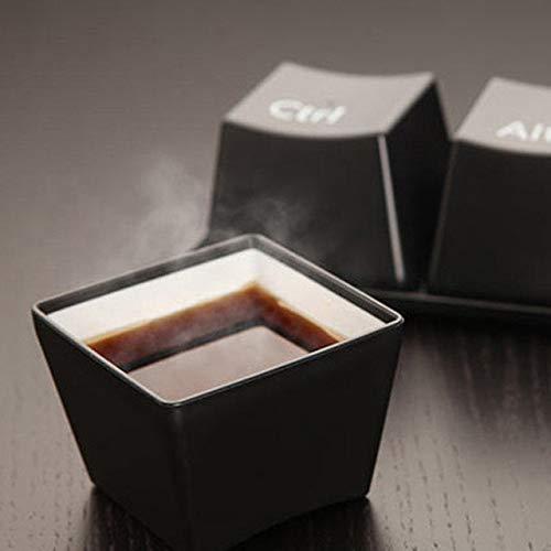 SHENGPAIN Tee-Set Tastatur Tasse schwarz Strg del Alt 3 Stück/Tasse Werbegeschenk Fachausstellung Hochzeitstasse