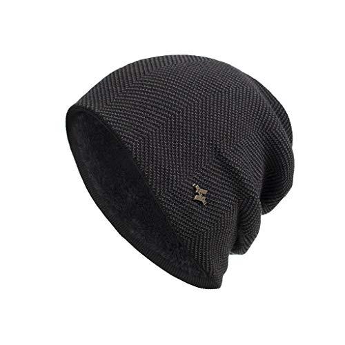 2020 Mode Homme Bonnet Hiver en Laine tricoté Hommes Bonnets Chauds Mode Hommes Automne Hiver Crochet Chapeau Laine Tricot Bonnet Chaud Chapeaux Caps SANFASHION