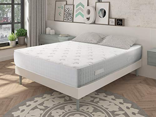 Dormideo–Viskoelastische City Luxury Matratze -  grüne, ökologische Kaschmir-Fasern, antibakteriell 80x190cm