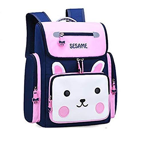Aihan Mochila escolar para niños, linda mochila de descompresión, para estudiantes de escuela primaria, 6 – 10 años de edad, niños y niñas, regalo de aprendizaje, Rosado, L