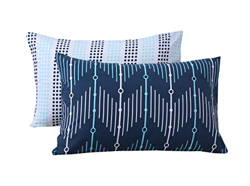 Divine Textiles Printed Pillow Cases reversible Pattern Ultra Soft Easy Care, Pillow Cases(50x75cm) - ZigZag