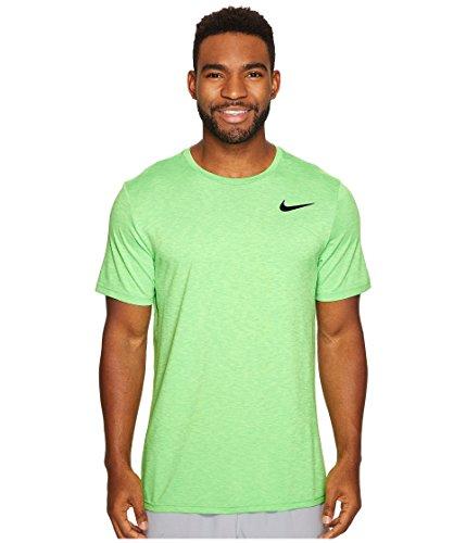 Nike Herren Breathe Hyper Dry Shirt, Ghost Green/Tourmaline/Black, L