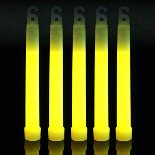 IncrediGlow 6 Inch Glow Sticks Bulk Pack   Long Lasting 8-12 Hours Bright Chemical Lights   Industrial Grade Emergency Light Sticks   Glow in The Dark Lightsticks