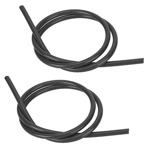 Cable de encendido de núcleo de carburo confiable de silicona profesional de 2 piezas para automóvil(black)