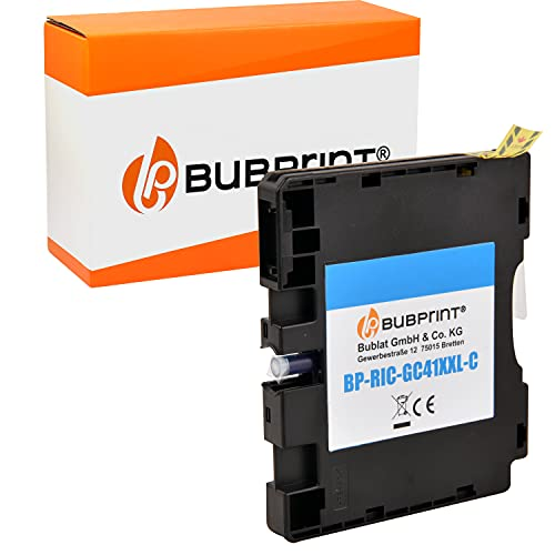 Bubprint Druckerpatrone kompatibel für Ricoh GC-41 GC-41C für Aficio SG2100N SG3100SNw SG3110DN SG3110DNw SG3110SFNw SG3120 SG7100DN SG-K3100DN Cyan
