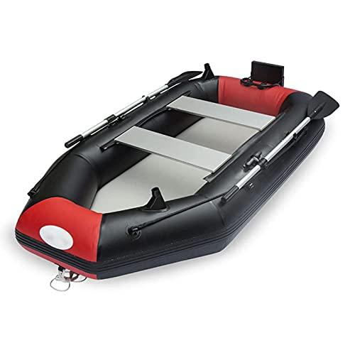 QSKL Canoa Inflable para Kayak para 2 Personas, Bote Inflable de 6.5 pies, Kayak de mar, balsa de Goma portátil para Pescar con remos de Aluminio