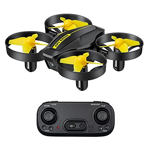DEVASO Mini Drone per Bambini, Quadricottero RC con Telecomando, Funzione Hovering, Rotazione del Cerchio, 3D Flip, Decollo Atterraggio a Un Tasto, Velocità Regolabile, Adatto ai Principianti (Nero)