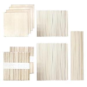 DOITEM 214 PCS Palitos de paletas de palitos de madera de artesanía multicolor Barras de madera de balsa Paleta de paleta de arte de paleta lisa Perfecta para artículos de artesanía