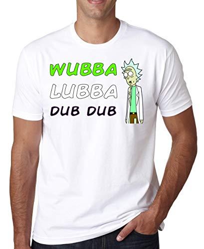 ShutUp Co. Rick Morty Wubba Lubba Dub Dub Camiseta para Hombre XX-Large