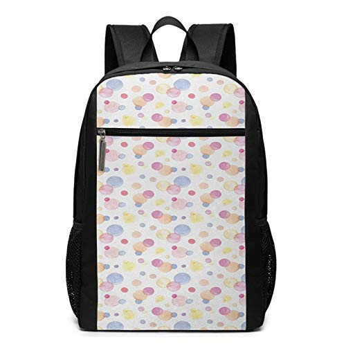School Backpack Small Spots Dot Romantic Teenage, College Book Bag Business Travel Daypack Casual Rucksack for Men Women Teenagers Girl Boy