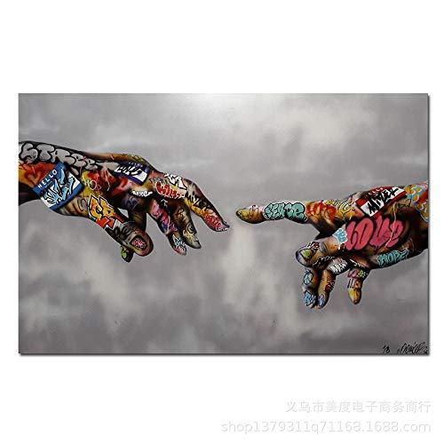 Decoratieve schilderijen Handgeschilderde Street Art Schilderkunst Graffiti Poster Canvas Wall Art Canvas Afbeeldingen Mode Abstract Schilderij Afbeeldingen Kunstwerk Home Decor,60x90cm