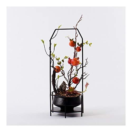 NYKK Künstliche Blume Künstliche Granatapfel Ornamente Künstliche Blumen im chinesischen Stil Pflanze Topf dekorative Blumen Schöne und Vivid Home Office Dekoration Ornamente Ewige Blume