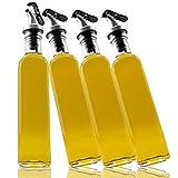 A|M|I|N|A Juego de 4 botellas de aceitera y vinagre Toscana de 250 ml/500 ml,...