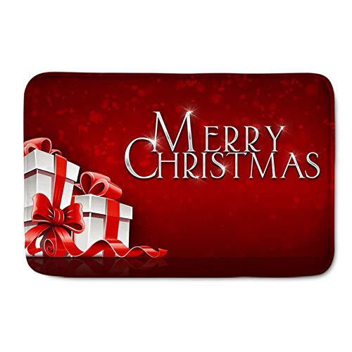 Alfombras de Feliz Navidad Alfombra de Navidad Alfombra roja Festiva Alfombra de Navidad Copo de Nieve Alfombras para el hogar para Sala de Estar Dormitorio,Merry Christmas,100 * 150cm
