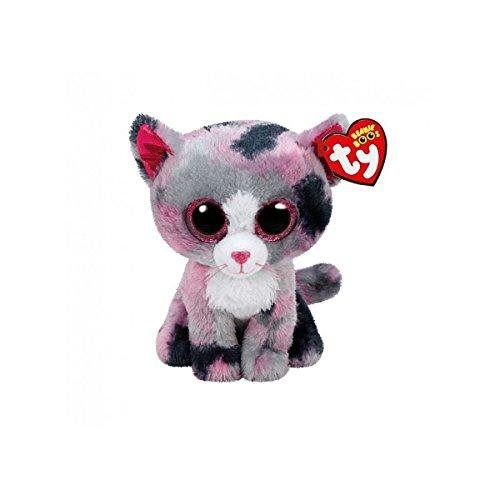 Carletto Ty 37172 Ty 37172-Lindi mit Glitzeraugen, Beanie Boo's Katze, 15 cm, pink