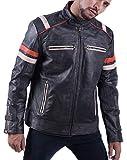 Cafe Racer Retro Jacket (3XL) Distressed Black