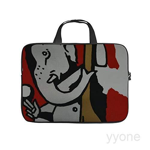 Neoprene Sleeve Laptop Handle Bag Handbag Notebook Case Cover Ganesh with Sitar Portable MacBook Laptop/Ultrabooks Case Bag Cover 15 Inch