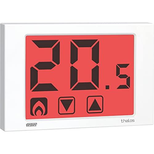 Vemer VE434700 Termostato Thalos 230 Touch Screen da Parete, Bianco