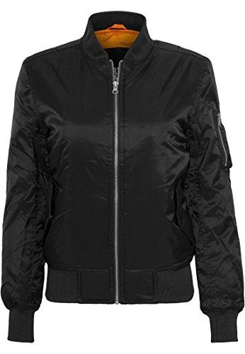 Urban Classics Ladies Basic Bomber Jacket Chaqueta, Negro - Negro (Negro 7), 38 (tamaño del Fabricante: M) para Mujer
