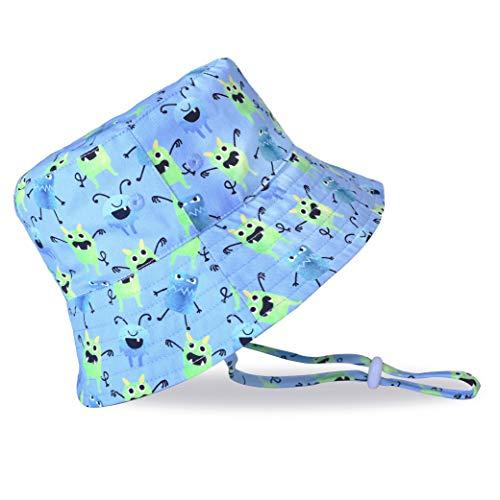accsa Kleinkind Sonnenhut Baumwolle Bucket Hut Fischerhüte Kinder Eimer Hut mit verstellbaren Kinnriemen Strandhut Sommerhut für Mädchen Jungen