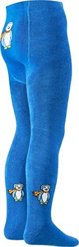 Playshoes Jungen Thermo-Strumpfhose Pinguin Strickstrumpfhose, blau, 86/92