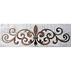 Ornamental Fleur de Lis Scroll Metal Accent 12, 15.5, 22 and 30