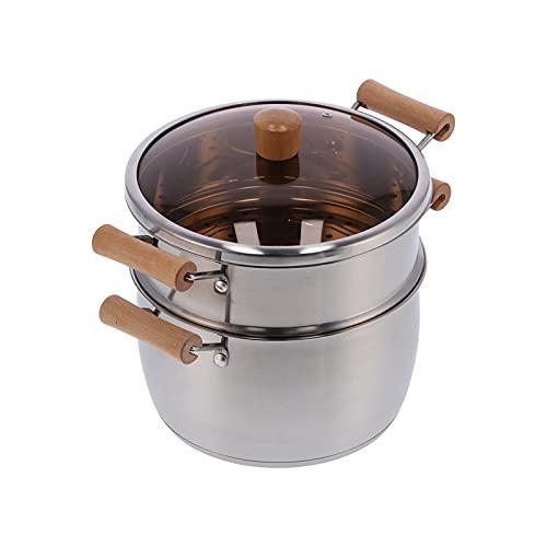 FOLOSAFENAR Utensilios de Cocina de Acero Inoxidable, Olla de cocción de Calentamiento Uniforme para Estufa de Gas para Estufa eléctrica para Cocina de inducción