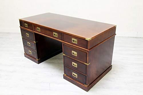 Classic Interior Schreibtisch Tisch Chesterfield Englisch Antik Büro Massiv Alt
