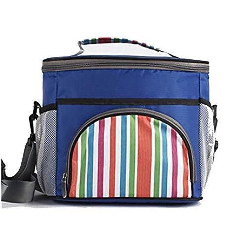 OH Cesta de Picnic Tote Grande Soft Cooler Bag Aislated Lunch Box Picnic Cooler Tote con Tapa de Dispensación para Viaje/Picnic/Deportes/Vuelo Durable/Azul / 28x24x21cm