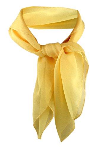 TigerTie Damen Chiffon Nickituch in gelb einfarbig unicolor - Halstuch Größe 50 cm x 50 cm